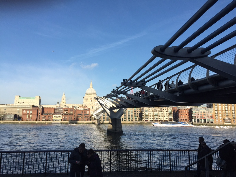 natale a londra london christmas saint paul's cathedral millennium bridge