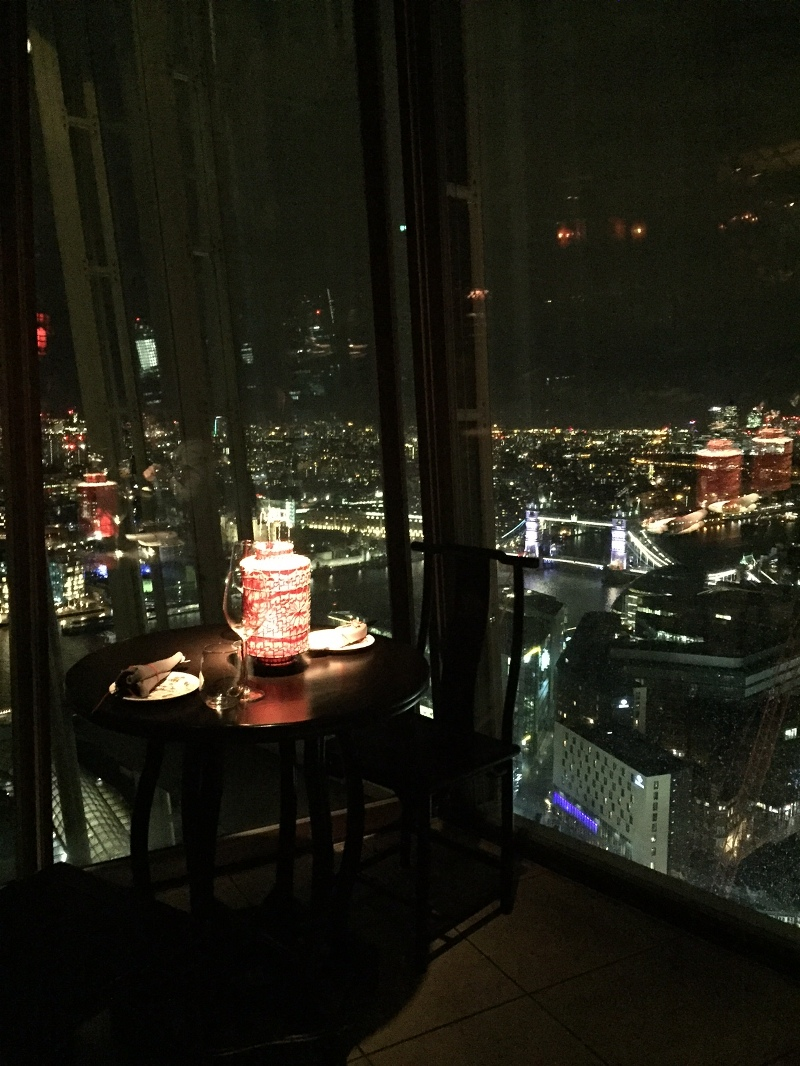 hutong restaurant shard london londra